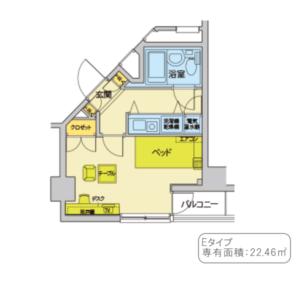 Eタイプ(間取り)22,46㎡