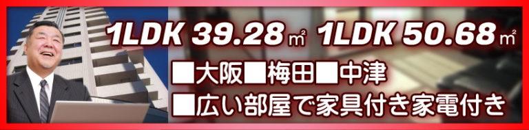 大阪梅田周辺で1LDKを探すなら